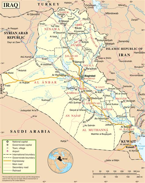 map for iraq iraq road map