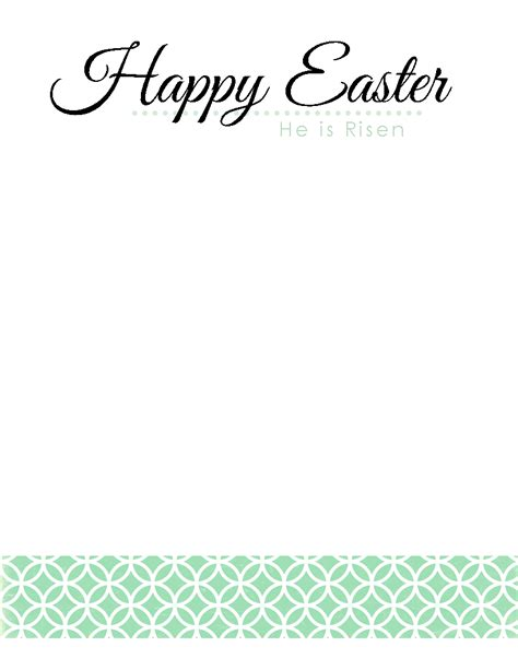 march printable stationary the blogging pastors wife happy easter stationary in