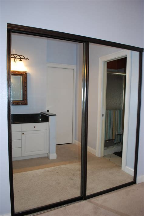 sliding mirror closet door frame