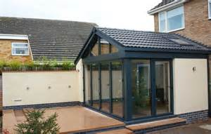 Closed In Patio Rooms Contemporary Garden Room Bifold Closed
