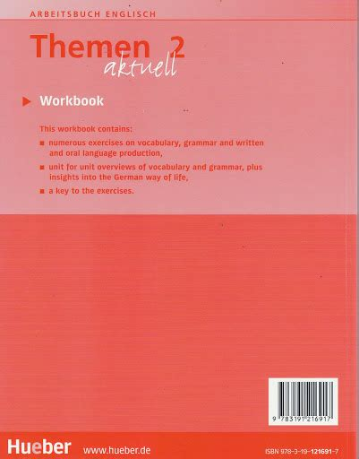 themen aktuell 2 workbook hueber themen aktuell 2 workbook with english translation niveaustufe a2 new ebay