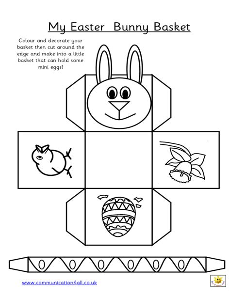 printable paper easter egg baskets easter bunny basket free download