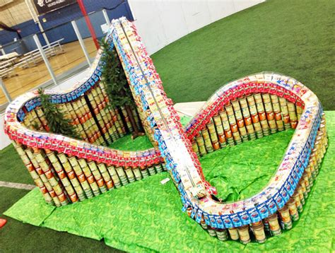 Canstruction Design Plans Working Roller Coaster Made Entirely From Cans Unveiled At