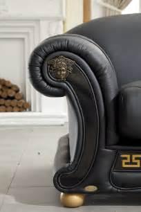 Versace Leather Sofa Versace Italian Leather Classic Sofa Set