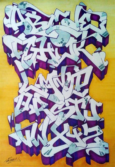 graffiti alphabets   blow  mind bombing
