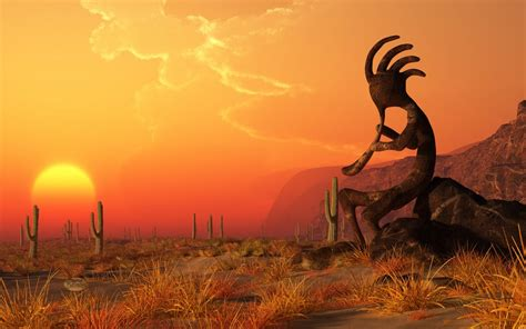 Kokopelli Wallpaper kokopelli sunset by deskridge on deviantart