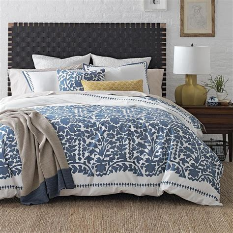 White And Blue Bedding by Cbell Organic Garden Path Duvet Cover Shams