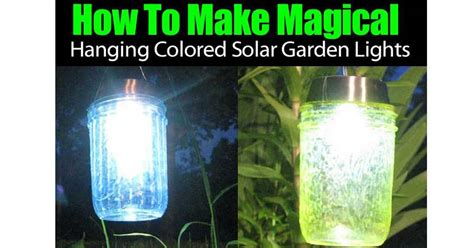 How To Make Magical Hanging Colored Solar Garden Lights How To Use Solar Lights For Garden