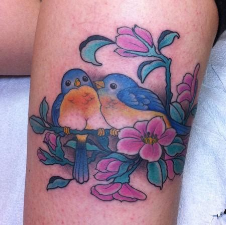 love tattoo with birds off the map tattoo tattoos flower cherry blossom