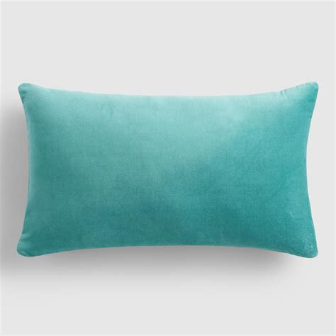 Blue Lumbar Pillow by Sky Blue Velvet Lumbar Pillow World Market