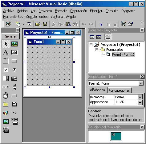 Imagenes Visual Basic 6 0 | ricardo oh sobre el entorno gr 225 fico de visual basic 6 0