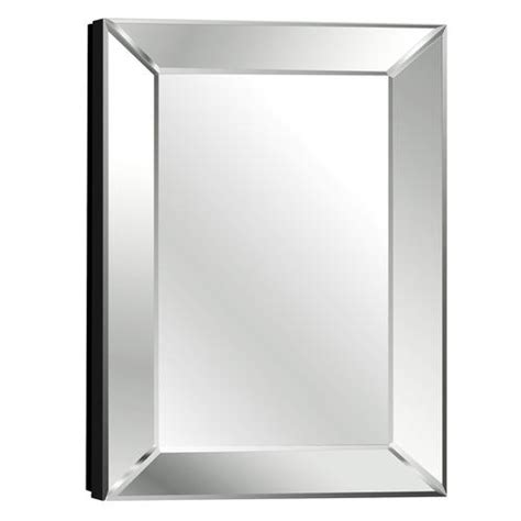 Beveled Mirrors For Bathroom Pace 18 Quot Mitered Beveled Mirror Medicine Cabinet 18 Quot W X 27 Quot H X 4 1 2 Quot D Bathroom
