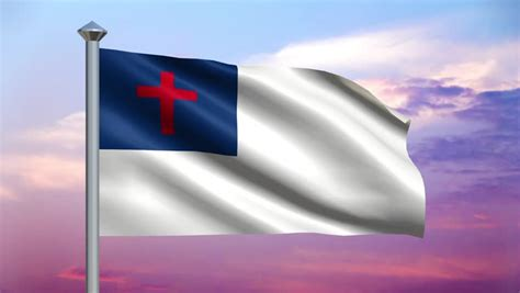 christian flag images perfectly seamless loop no fade features a christian