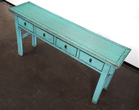 Turquoise Console Entry Hallway Sofa Table With Drawers Turquoise Sofa Table