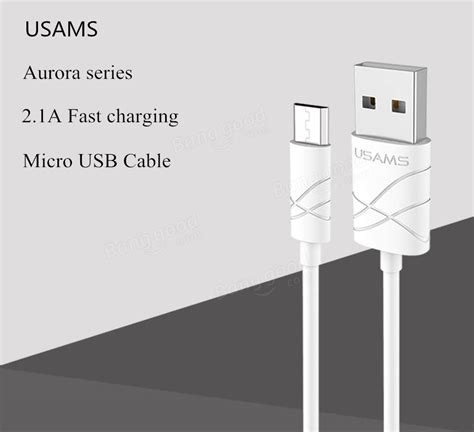 Usams Micro Usb Cable 1m Kabel Data Terjamin Kualitasnya original usams 2 1a 1m 3 3ft pvc charging data micro usb cable for samsung huawei xiaomi sale
