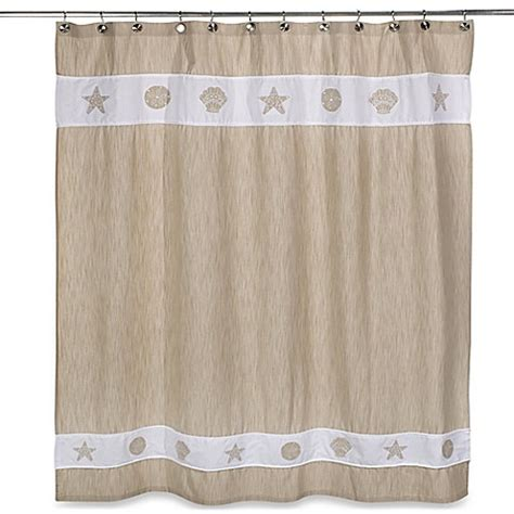 seaside shower curtain seaside bliss shower curtain bed bath beyond