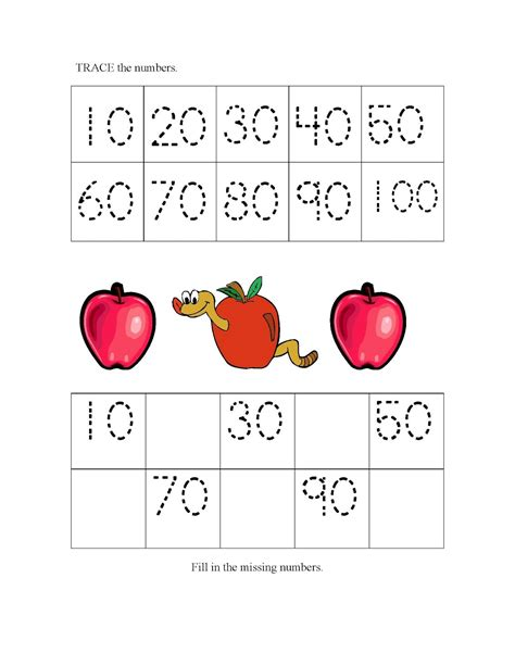 Counting By 10 S Worksheets by Count By 10s Worksheets Activity Shelter