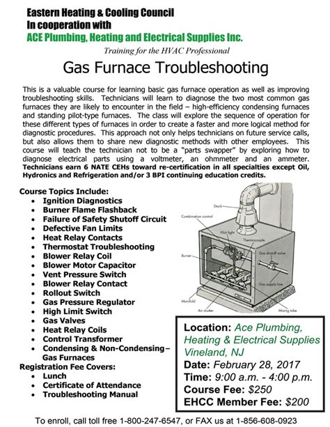 vineland gas furnace troubleshooting training by eh cc ace plumbing heating electrical supplies