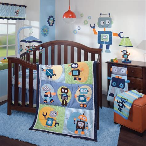 Lambs And Ivy Robbie 1 0 Baby Bedding And Decor Baby Robot Crib Bedding