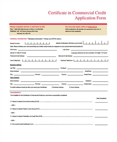 Transfer Credit Application Form Humber College 32 Credit Application Forms In Pdf