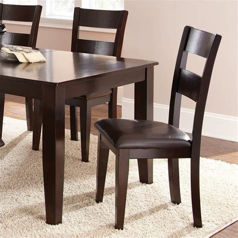 espresso dining room table steve silver 5pc room table espresso dining set