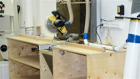bench mitre saw building a miter saw workbench изготовление стола для