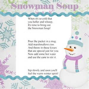 Snowman Soup Printable Poem » Home Design 2017