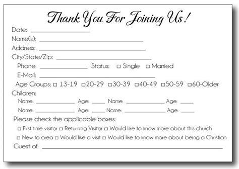 church volunteer info card template 78 best make images on attendance chart