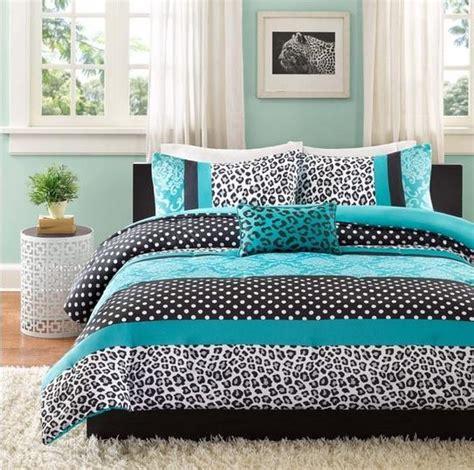blue damask comforter set teen blue black white damask dots leopard stripe comforter