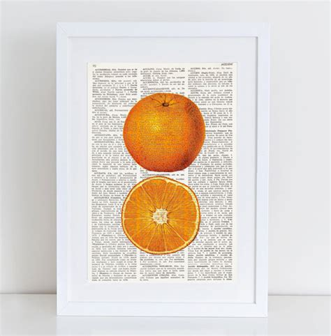 Orange Wall Decor by Dictionary Print Orange Kitchen Wall Decor Wall