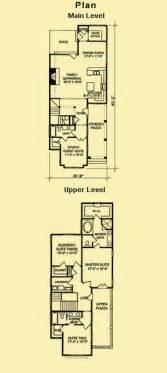 Skinny Houses Floor Plans Narrow House Plans House Affair