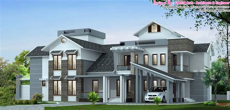 executive house plans 5bhk luxury kerala villa design at 3700 sq ft