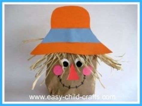 Scarecrow Paper Bag Craft - paper bag scarecrow craft preschool items juxtapost