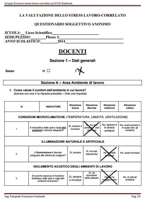 check list sicurezza uffici modello excel usr basilicata stress lc corpo docente