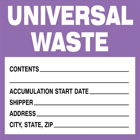 Universal Waste Label Template Printable Label Templates Free Hazardous Waste Label Template