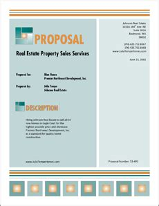 real estate property sales services proposal 5 steps