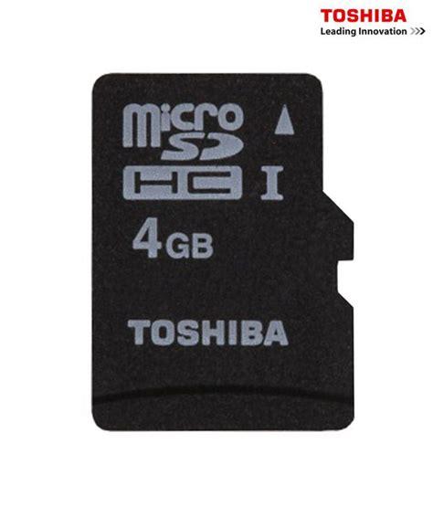 Memory Card 4gb Toshiba toshiba 4 gb microsd card class 4 memory card buy toshiba 4 gb microsd card class 4