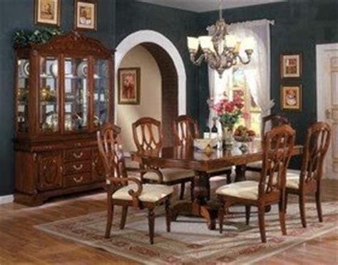 distressed cherry formal dining room set w microfiber seats modern furniture formal dining room