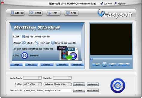 format video amv 4easysoft mp4 to amv converter for mac to convert mp4 to