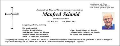 Auto Schmidt Langquaid by Traueranzeige 836990 Familienanzeigen Todesanzeigen