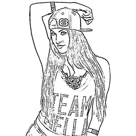 paige wwe coloring page bella twins coloring pages coloring pages coloring
