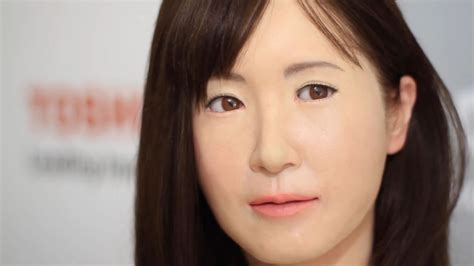 japanese android meet chihiraaico toshiba s scarily realistic robot hostess android unveiled at ces 2015
