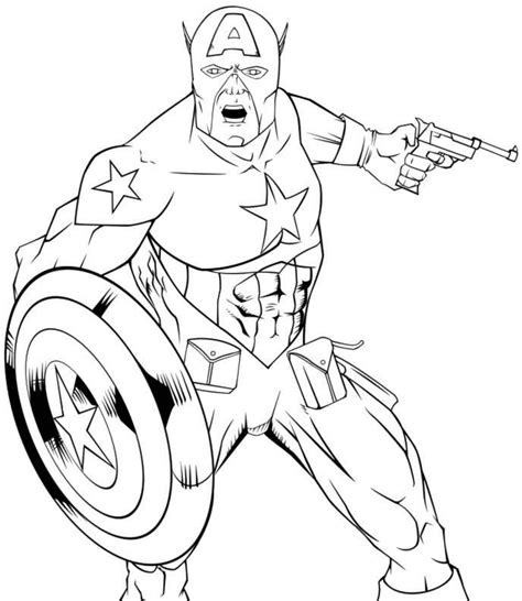 Captain America Symbol Coloring Pages Captain America Colouring Pages