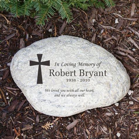 personalized memorial garden engraved cross in