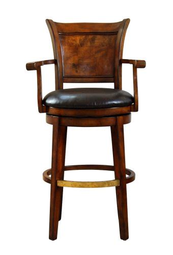 luxury leather bar stools swivel bar stool with top grain leather seat by global