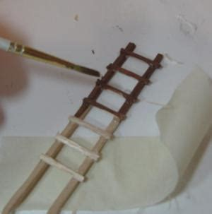 How To Make A Paper Ladder - how to make a miniature ladder