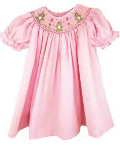 Baby girls easter dress smocked easter bunny dress