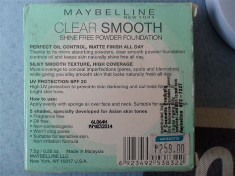 Maybelline Clear Smooth Shine Free Clear Stick Foundation maybelline new york clear smooth shine free powder