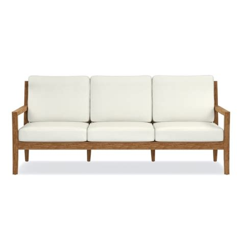 garden teak sofa williams sonoma