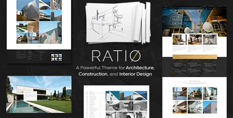 Ratio A Powerful Theme For Architecture Construction And Interior Design By Edge Themes Construction Portfolio Template